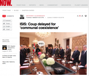 'WTF', capture d'écran du site Now News.