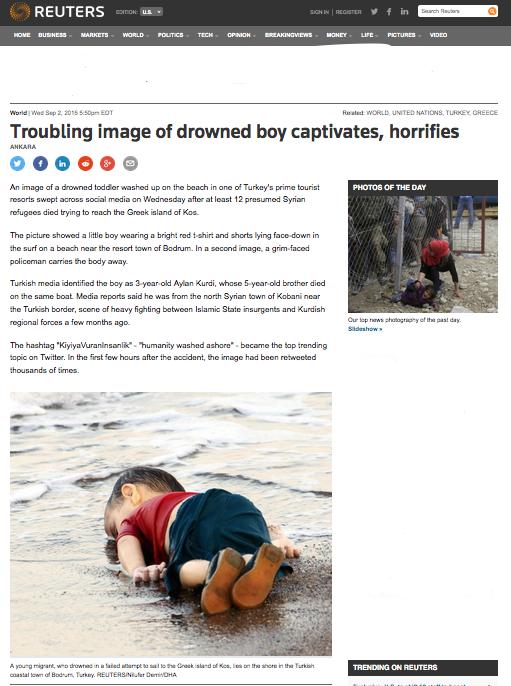 Reuters, 2/9/15. Capture d'écran nettoyé